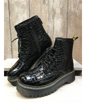 Bottines croco...