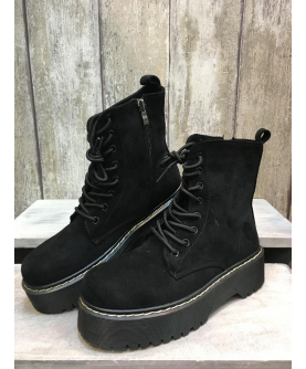 Bottines Little Suède - noir